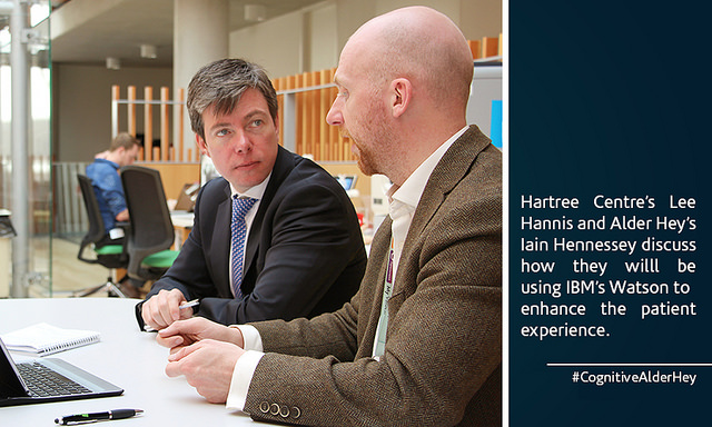 Iain Hennessey (Alder Hey) and Lee Hannis (Hartree Centre) discuss how they will use Watson